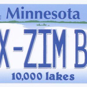 merchandise sticker Minnesota License Plate Sax-Zim Bog FOSZB